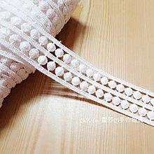 『ღIAsa 愛莎ღ手作雜貨』黑白色棉線蕾絲花邊雙排圓點輔料衣服裙子棉線刺繡花邊寬3.2cm