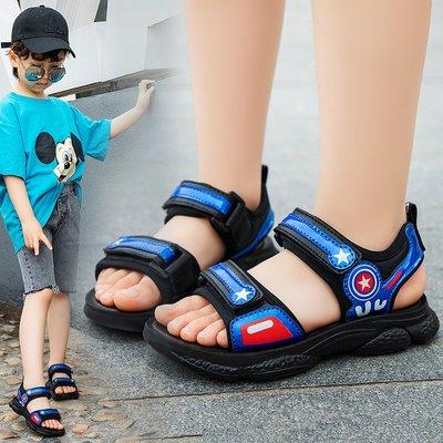 男童涼鞋新款夏季中大童小孩軟底防滑兒童小童寶寶男孩童鞋子