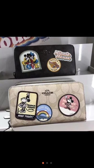 NaNa代購 COACH 29380 31350 新款 Disney系列 米奇長夾 限量版 女士拉鏈長夾 附購證
