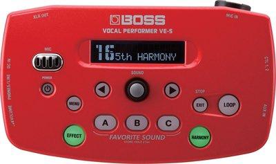 ♪♪學友樂器音響♪♪ BOSS VE-5 人聲效果器
