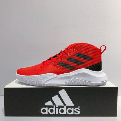 adidas OWNTHEGAME K WIDE 女生/ 大童 紅色 皮革 高筒 舒適 緩震 籃球鞋 EF0306 台北市