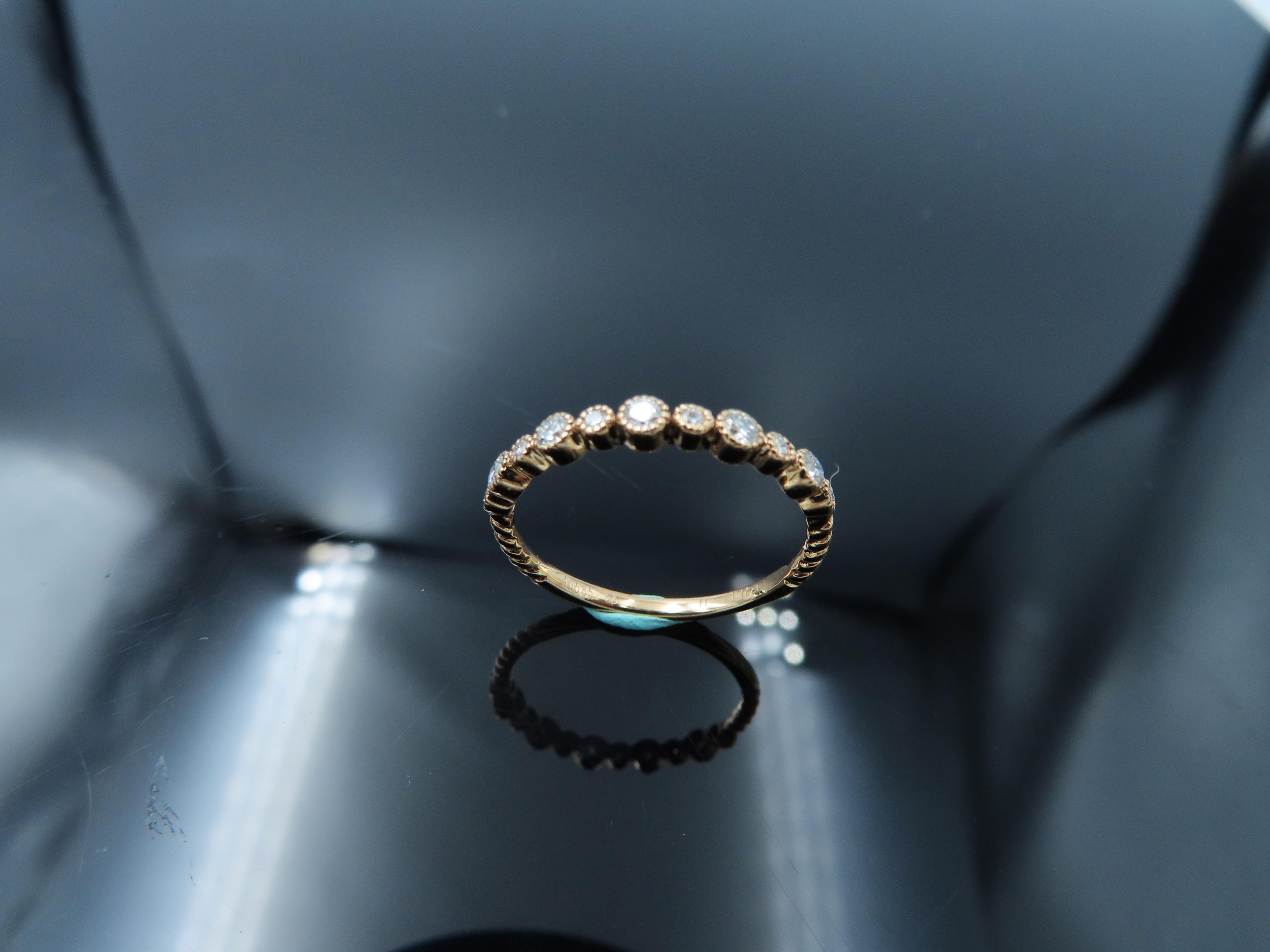 %玉承珠寶%輕珠寶系列14k玫瑰金精緻天然鑽石大小星星設計鑽戒/尾戒DR12(現貨1)