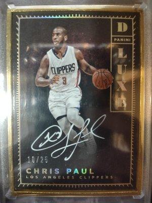 Chris Paul 2016 Panini Dluxe 超限量25張卡面親簽