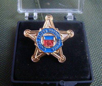 美國特勤局(U.S Secret Service/USSS)金屬徽章 純銅