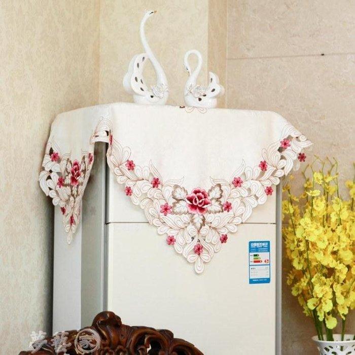 空調罩 布藝繡花空調罩櫃式立式防塵櫃機罩圓柱形歐式開機不取蓋布蓋巾