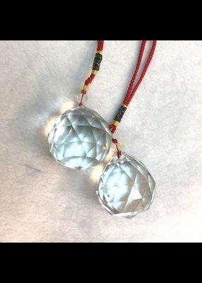 108切面大款 擋煞 水晶球吊飾 玻璃合成水晶球 含加持 結緣商品 水晶球