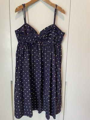 polo jeans company 藍色點點傘狀細肩帶洋裝小洋裝宴會謝師宴小禮服孕婦裝