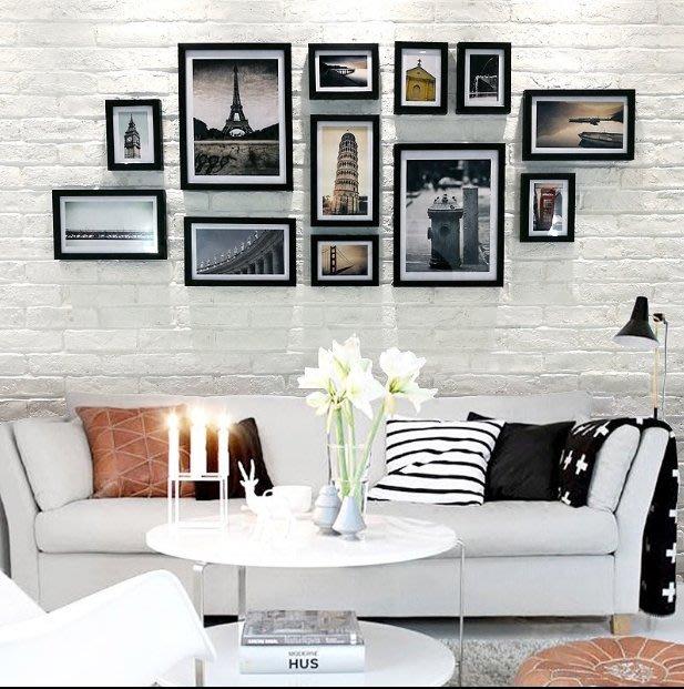12框照片牆歐式相框牆客餐廳臥室相片牆創意組合高檔掛牆相框牆