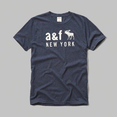 Maple麋鹿小舖 abercrombie&fitch * A&F 男童款貼布電繡麋鹿字母短T*( 現貨XL號 )
