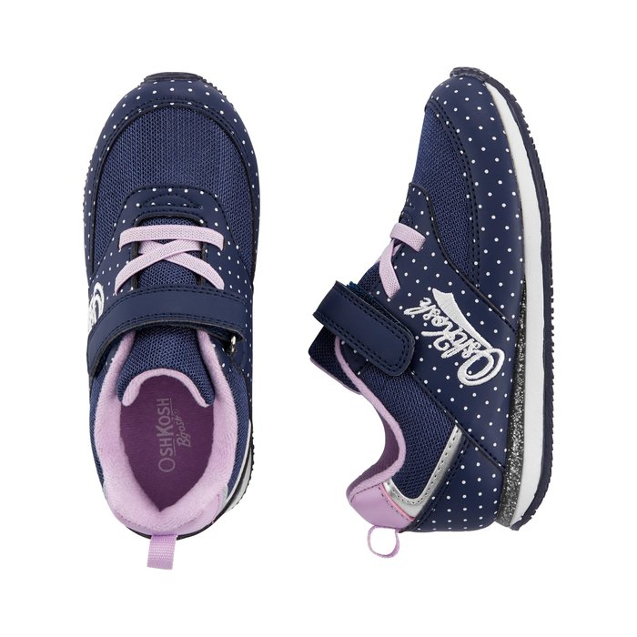 【Carter's】CS女童運動鞋字白點藍 F03191002-08