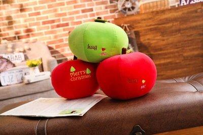 ☆汪汪鼠☆【30公分】仿真蘋果抱枕 玩偶 聖誕平安果 紅蘋果 綠蘋果 創意雜貨 餐廳店面擺設 聖誕節交換禮物 節慶小物