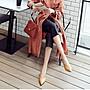 大尺碼女鞋小尺碼女鞋尖頭素面巫婆鞋粗跟低跟鞋中跟鞋棕色(30-46)現貨#七日旅行