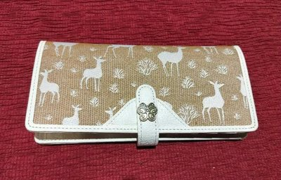 Anna Sui 皮革織布長皮夾
