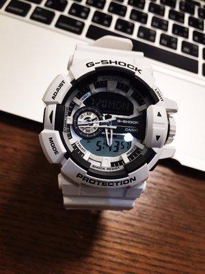 FOCA ☆ CASIO G-SHOCK 卡西歐 GA-400大錶徑  GA-400-7A 黑X白 白太極 手錶