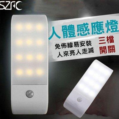 糖衣子輕鬆購【BA0289】LED櫥櫃智能光控感應燈USB充電臥室客廳小夜燈紅外人體感應燈