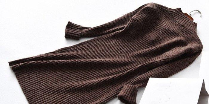 品衣著~*澳洲定單 高品質時尚半高領  修身針織洋裝