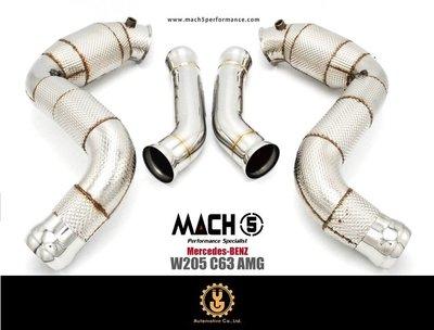 【YGAUTO】Mercedes-BENZ 賓士 W205 C63 AMG 改裝 MACH5 頭段 當派 排氣管
