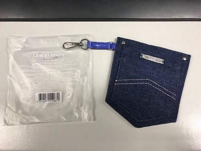 Giorgio Armani denim pouch octopus card holder 牛仔布八達通、証件掛袋