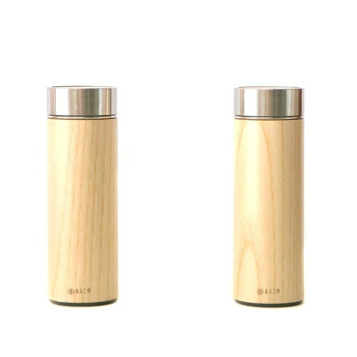 木入三分。兩倆一起-汋飲保溫瓶。栓木 330ML