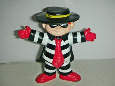 A.(企業寶寶玩偶娃娃)少見1995年麥當勞發行漢堡神偷公仔!!--距今已21年值得收藏!/箱/-P