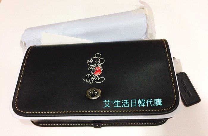 代購現貨 Coach x Disney 聯名系列 米奇真皮斜背包/馬鞍徽章斜背包