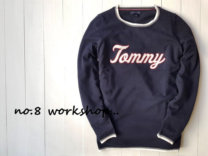 T☆【女生館】☆【TOMMY HILFIGER LOGO貼布針織衫】☆【TOMG002W1】(XS-S-M-L)原價2299 12/9