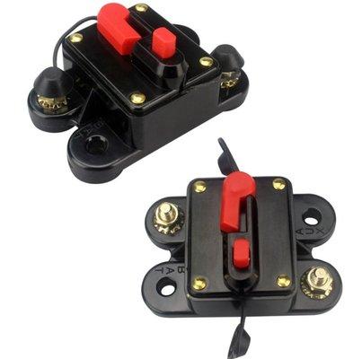 歸位保險絲 電路斷電器 改裝 汽車 音響 正電 手動 自動 140A 保險絲盒 保險絲座 保險絲開關 無熔絲開關