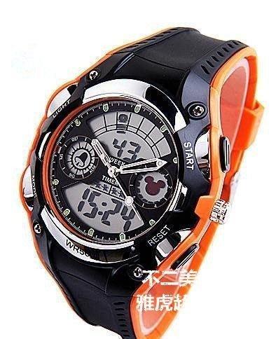 【格倫雅】^迪士尼運動錶 多功能兒童手錶LED防水手表米奇學生表 男生電子17272[