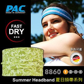 【ARMYGO】P.A.C. Summer Headband 夏日頭帶系列 (淡綠色花樣)