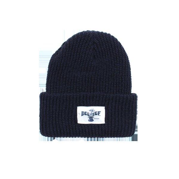 BELIEF MAGICIAN BEANIE NAVY 毛帽 深藍色 美國製 紐約品牌