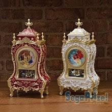 41+ 現貨不必等 正版授權   公主玻璃造型鐘 旋轉鐘 景品 1023949  my4165