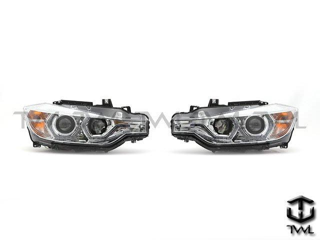 《※台灣之光※》全新BMW 14 15 16 12 13年 F30 美規鹵素328升級晶鑽LED單光光圈魚眼投射大燈組