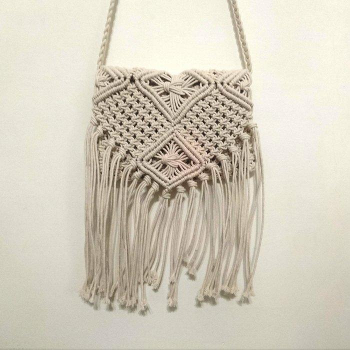 日本高價專櫃DOUBLE STANDARD CLOTHING波希米亞編織流蘇 側背包肩背包