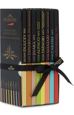 (預購)法國VALRHONA  大塊巧克力磚8片組 Grands Crus chocolate bars 560g
