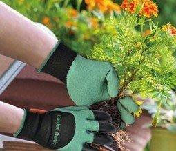全新Garden Genie Gloves園藝花園乳膠挖土爪子手套