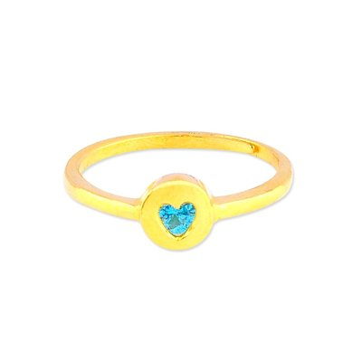 【JHT 金宏總珠寶/GIA鑽石】0.83錢 藍鑽愛心戒指【價格依當日金價計算 (請來電洽詢)】