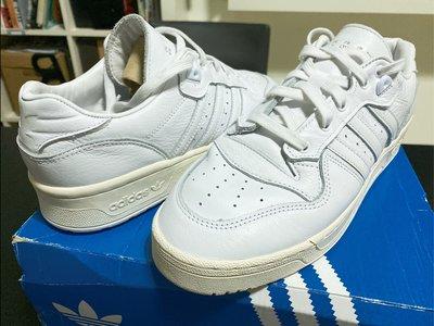 ADIDAS ORIGINAL RIVALRY LOW 白 奶油底 US9.5 仿舊 復古 籃球鞋 CAMPUS STAN SMITH