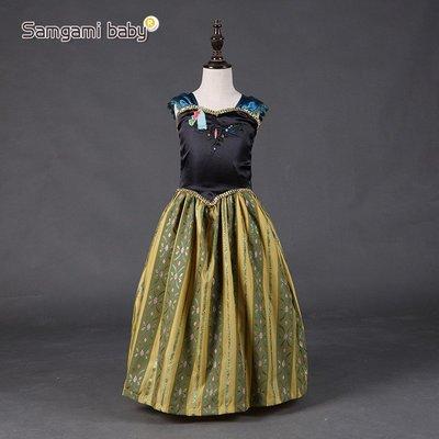 【Kathie Shop】冰雪奇緣Frozen安娜公主裙表演服洋裝禮服 萬聖節耶誕節PARTY生日晚會