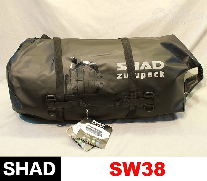 。摩崎屋。SHAD SW38 防水後筒包 多功能 全黑款 西班牙品牌 台灣總代理公司貨
