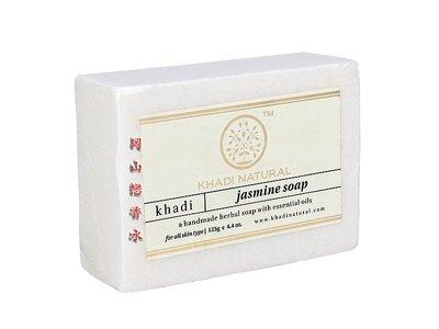岡山戀香水~印度 Khadi 草本茉莉手工精油香皂125g~優惠價:55元