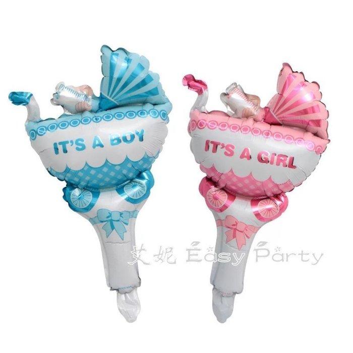 ◎艾妮 EasyParty ◎ 現貨🎈【推車手持棒】 抓週 週歲布置 男寶周歲 女寶周歲 兒童氣球 1歲生日布置 氣球