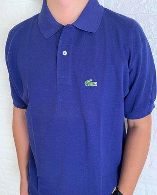 Look 鹿客 LACOSTE鱷魚 男 基本款寶藍色POLO衫