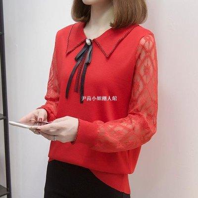尹茵小姐潮人館媽媽款毛衣外穿本命年紅色女裝時尚過年衣服氣質打底衫女人味上衣