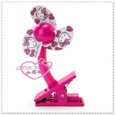 小公主日本精品 Hello Kitty 電風扇 夾式電扇 安全夾扇 可夾嬰兒車手推車 桃色大臉23010307賠售