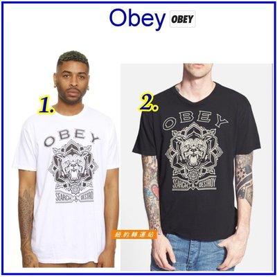 紐約轉運站 :美國百大購物網站全新真品購入滑板品牌OBEY undftd obey stussy 男生100%棉圓領短T
