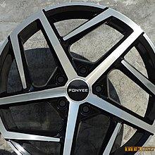 【田中輪胎館】FONYEE品牌 17吋 5X100/112 7.5J ET42 黑底車面