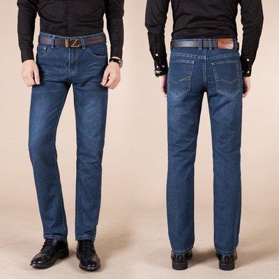 夏秋直筒男式牛仔褲 修身中腰寬鬆商務男式牛仔長褲 Y858