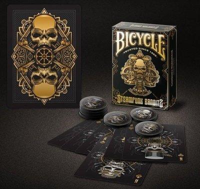 【USPCC撲克】Bicycle steampunk bandit black playing cards