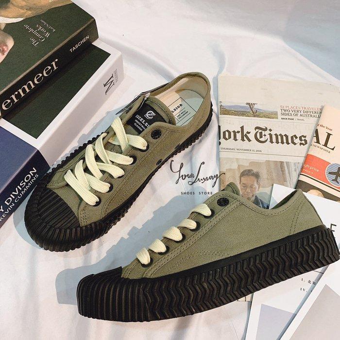 【Luxury】韓國 EXCELSIOR 餅乾鞋 多色可選 膠底帆布鞋 男女款 貝殼頭 橡膠  韓國代購