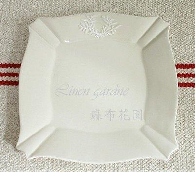 麻布花園zakka鄉村田園雜貨~法式古典浮雕花方盤~特價